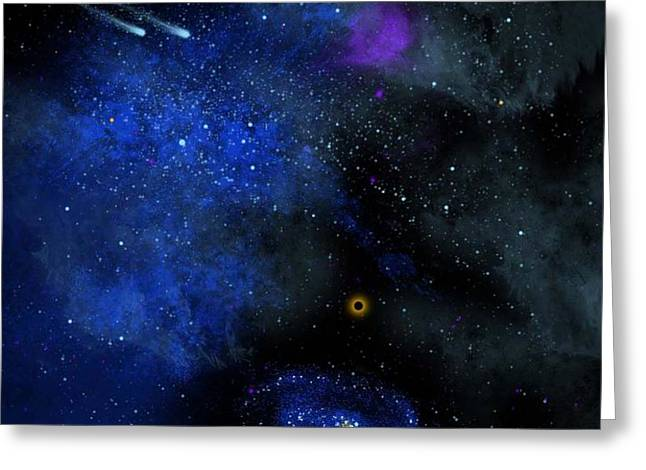 Wonders Of The Universe Mural Greeting Card by Frank Wilson
