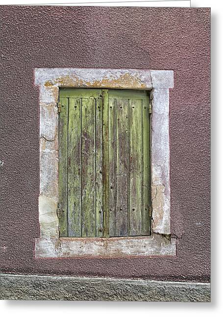 South West France Greeting Cards - Wonky Window Greeting Card by Nomad Art And  Design