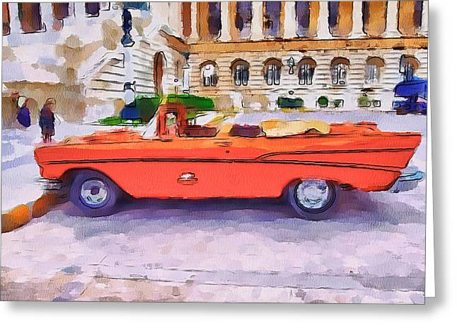 Live Art Greeting Cards - Wonna Ride this Car Greeting Card by Yury Malkov