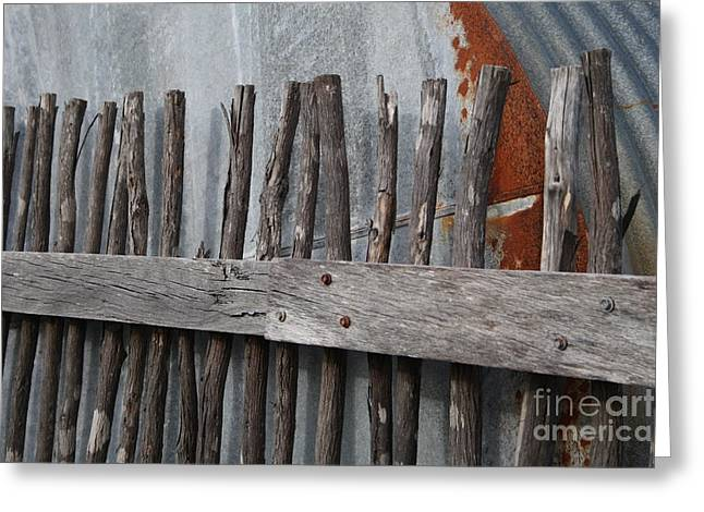 Wood And Rust Greeting Card by Kelly Jones