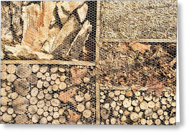 Shed Greeting Cards - Wood and straw Greeting Card by Tom Gowanlock