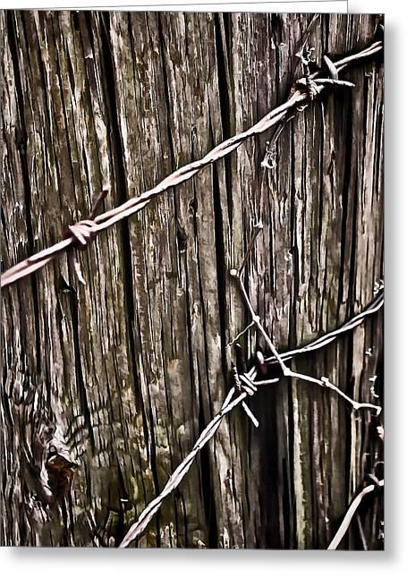 Worn In Digital Greeting Cards - Wood and Wire  Greeting Card by Greg Jackson