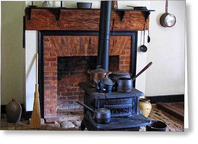 Wood Burning Stove Greeting Card by Dave Mills