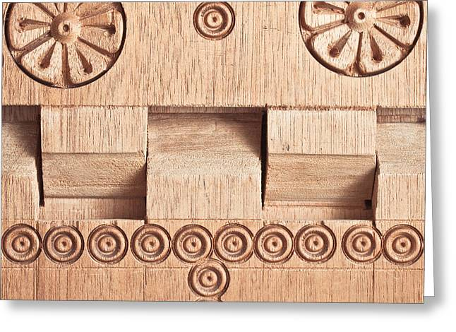 Wood carving Greeting Card by Tom Gowanlock