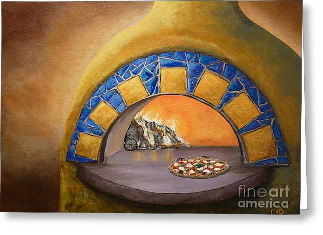 Margherita Greeting Cards - Wood Fired Greeting Card by Chad Berglund
