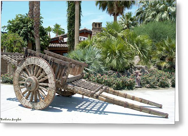 Wooden Wagons Greeting Cards - Wood Hand Cart  Greeting Card by Barbara Snyder