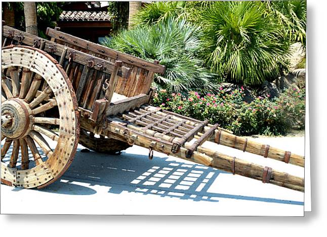 Wood Hand Cart II Greeting Card by Barbara Snyder
