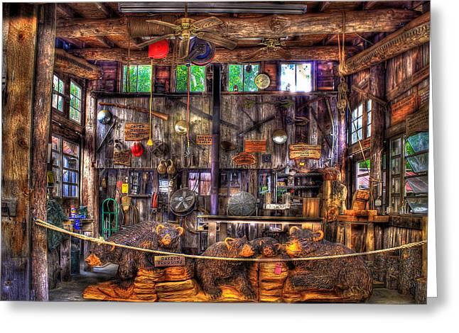 Wood Carving Greeting Cards - Wood Heaven in Wears Valley TN Greeting Card by Reid Callaway