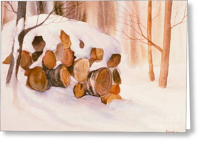 Sienna Greeting Cards - Wood in the Woods Greeting Card by Teresa Ascone