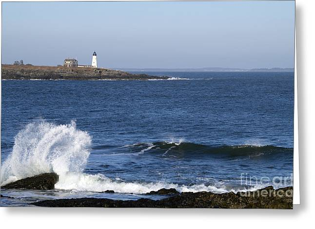 Recently Sold -  - Wildlife Refuge. Greeting Cards - Wood Island Light Greeting Card by Patrick Fennell