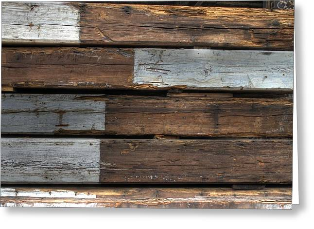Painted Wood Photographs Greeting Cards - Wood Greeting Card by Jane Linders