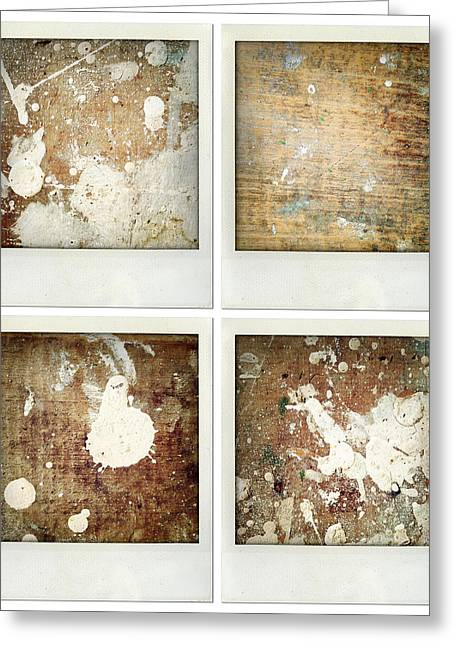 Painted Wood Photographs Greeting Cards - Wood Greeting Card by Les Cunliffe
