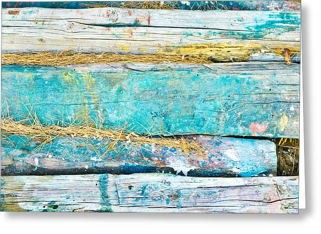 Woodpile Greeting Cards - Wood logs Greeting Card by Tom Gowanlock