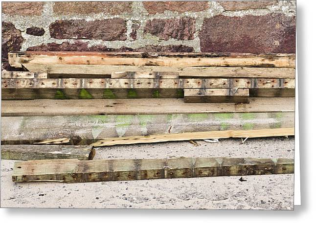 Conditions Greeting Cards - Wood planks Greeting Card by Tom Gowanlock