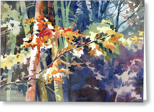 Maple Season Paintings Greeting Cards - Wood Song Greeting Card by Kris Parins