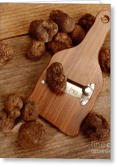 Commercial Photography Greeting Cards - Wood Truffle Slicer Greeting Card by Iris Richardson