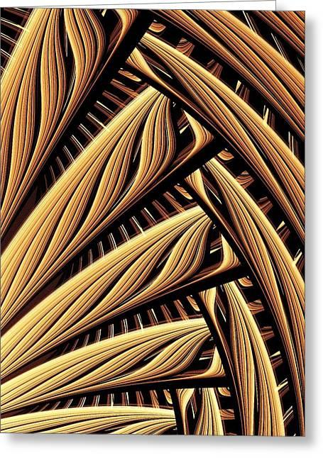 Bamboo Mixed Media Greeting Cards - Wood Weaving Greeting Card by Anastasiya Malakhova