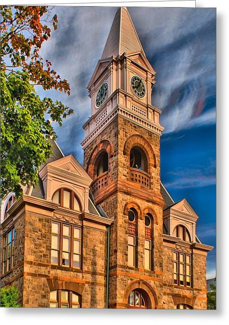 Woodbury Greeting Cards - Woodbury Courthouse Greeting Card by Nick Zelinsky