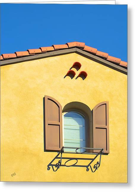 Woodbury Windows No 1 Greeting Card by Ben and Raisa Gertsberg