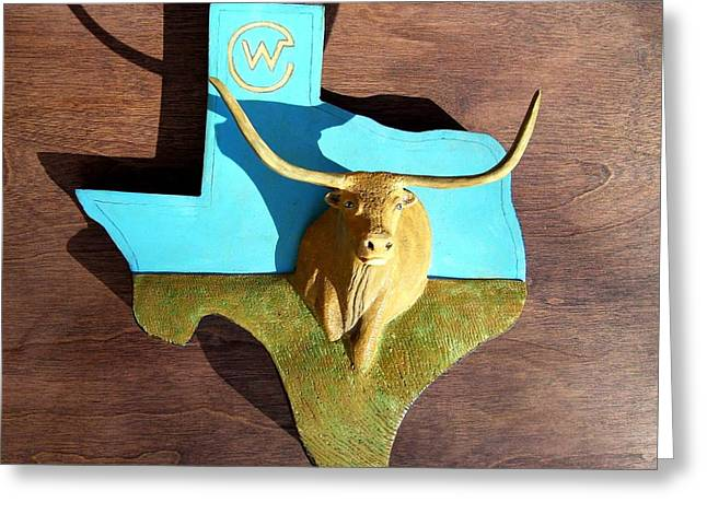 work Reliefs Greeting Cards - Woodcrafted Home on the Range Greeting Card by Michael Pasko