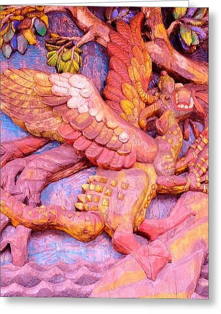 Origional Greeting Cards - Woodcut  6 Greeting Card by Gunter  Hortz