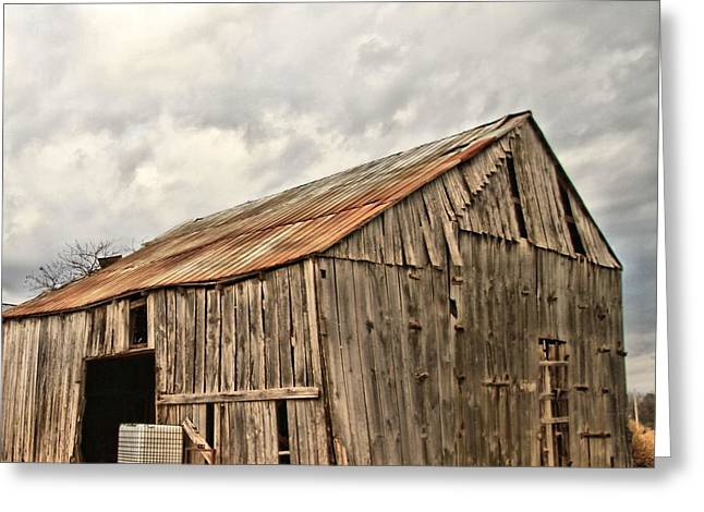 Tennessee Barn Greeting Cards - Wooden Barn Greeting Card by Josh Middleton