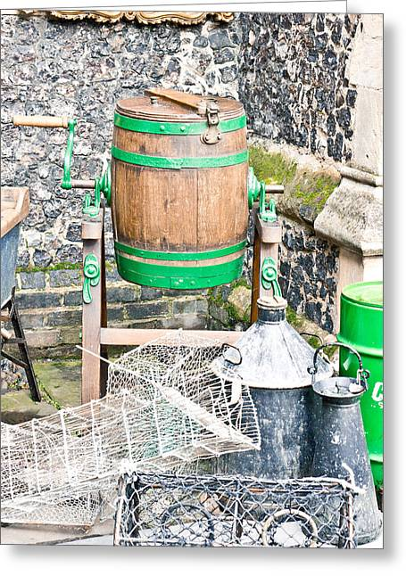 Selection Greeting Cards - Wooden barrel Greeting Card by Tom Gowanlock