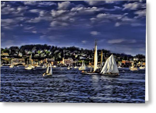 Schooner Greeting Cards - Wooden Boat Festival Greeting Card by Paul Dieter