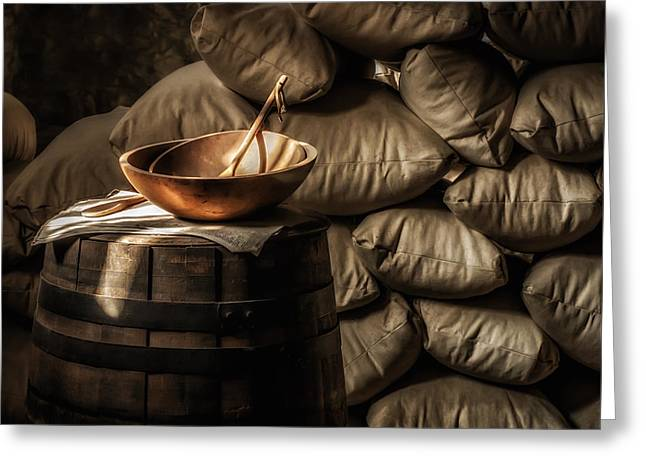 Historic Site Greeting Cards - Wooden Bowl Greeting Card by James Barber