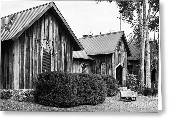 The Wooden Cross Greeting Cards - Wooden Country Church 2 Greeting Card by Bob Phillips
