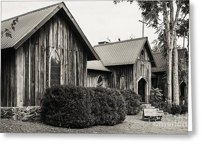 The Wooden Cross Greeting Cards - Wooden Country Church 3 Greeting Card by Bob Phillips