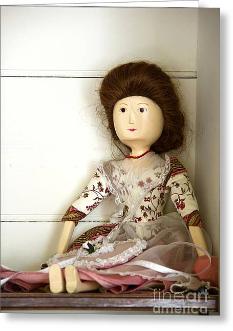 Wooden Doll Greeting Card by Margie Hurwich