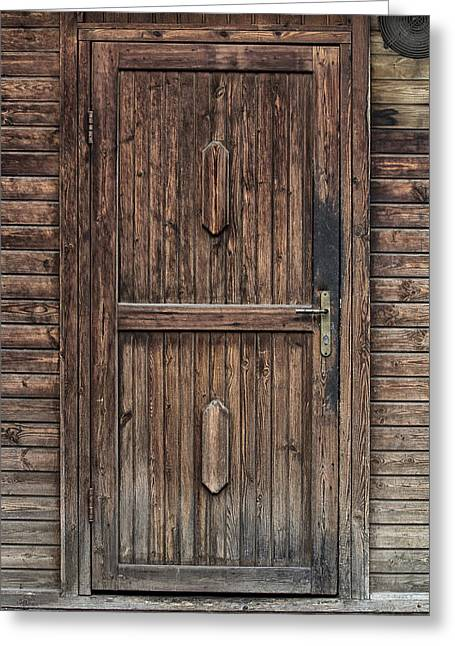 Entryway Greeting Cards - Wooden Door Greeting Card by Mountain Dreams