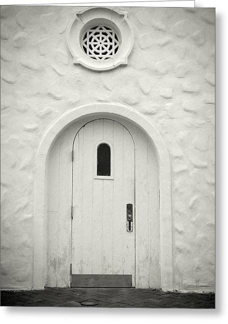 Medieval Entrance Greeting Cards - Wooden door Greeting Card by Rudy Umans