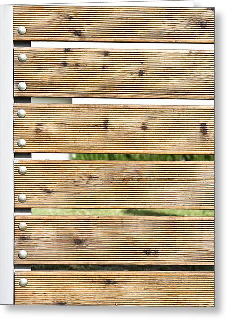 Grooves Greeting Cards - Wooden fence Greeting Card by Tom Gowanlock