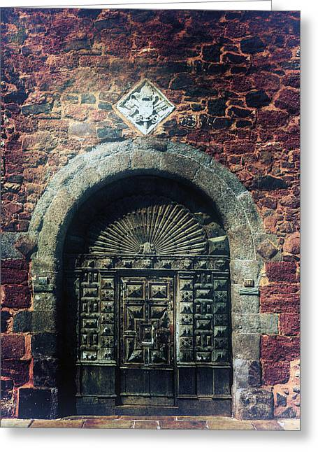 Castle Gates Greeting Cards - Wooden Gate Greeting Card by Joana Kruse