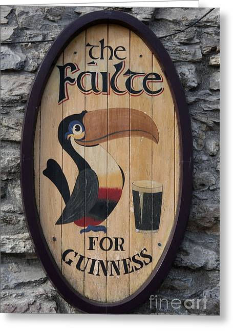 Wooden Guinness Sign Greeting Card by Christiane Schulze Art And Photography