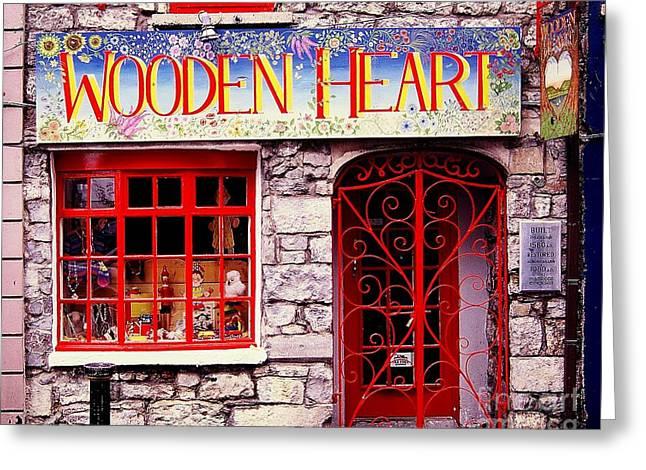 Wooden Heart Greeting Card by Ranjini Kandasamy