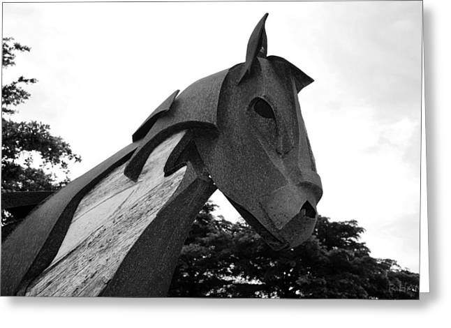 Rocking Horse Digital Greeting Cards - Wooden Horse 28a1 Greeting Card by Rob Hans