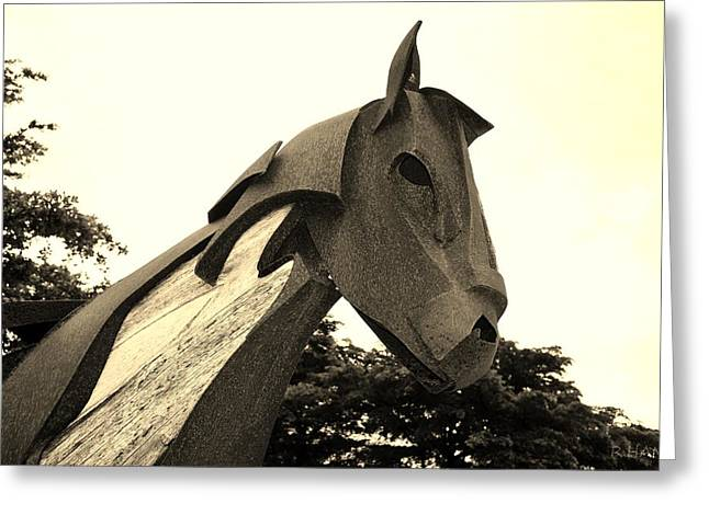 Rocking Horse Digital Greeting Cards - Wooden Horse 28a2 Greeting Card by Rob Hans
