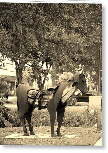 Rocking Horse Digital Greeting Cards - Wooden Horse 73 Greeting Card by Rob Hans