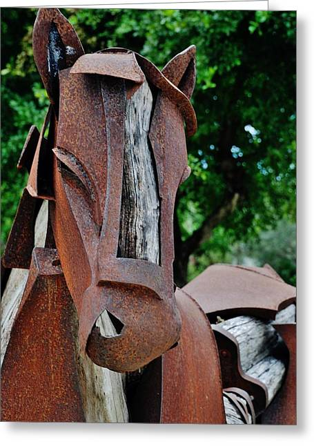 Rocking Horse Digital Greeting Cards - Wooden Horse15 Greeting Card by Rob Hans