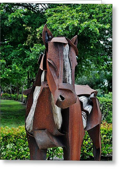 Rocking Horse Digital Greeting Cards - Wooden Horse17 Greeting Card by Rob Hans