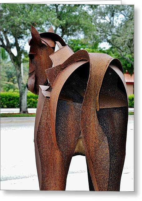 Rocking Horse Digital Greeting Cards - Wooden Horse4 Greeting Card by Rob Hans