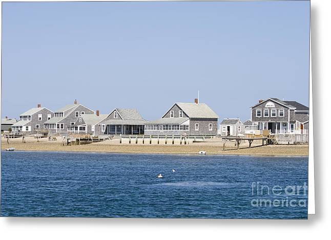 Cape Cod Tourism. Greeting Cards - Wooden houses on Cape Cod Greeting Card by Patricia Hofmeester