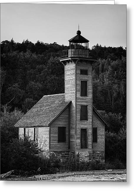 B Greeting Cards - Wooden Lighthouse Greeting Card by Sebastian Musial