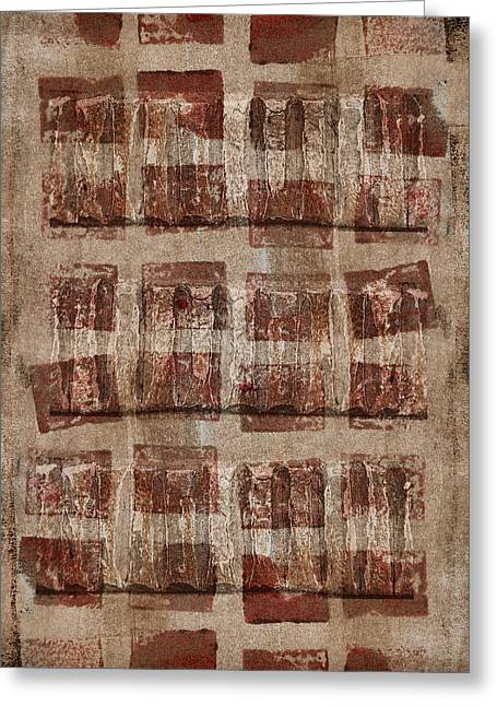 Brown Tones Greeting Cards - Wooden Paper Greeting Card by Carol Leigh