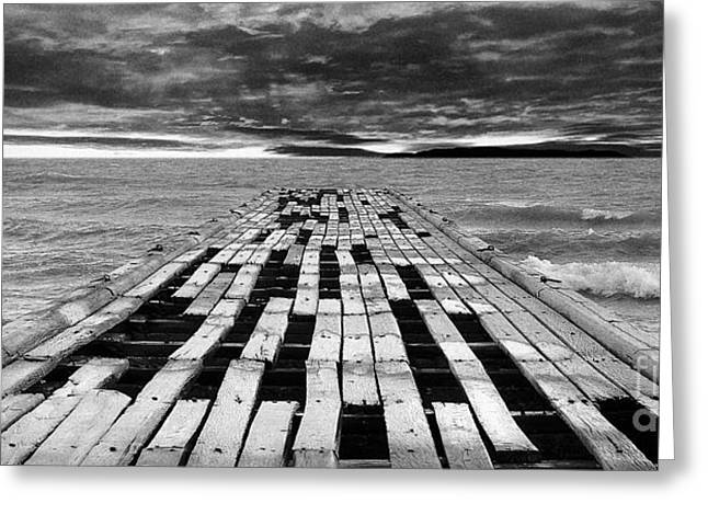 Damaging Thoughts Greeting Cards - Wooden pier Greeting Card by Shawn Hempel