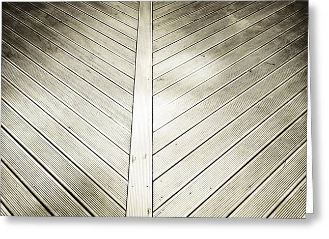 Boarding Greeting Cards - Wooden planks Greeting Card by Les Cunliffe