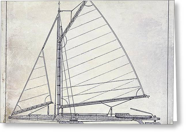 Wooden Boat Greeting Cards - Wooden Sailboat  Greeting Card by Jon Neidert